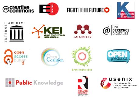 Endorsing organizations' logos